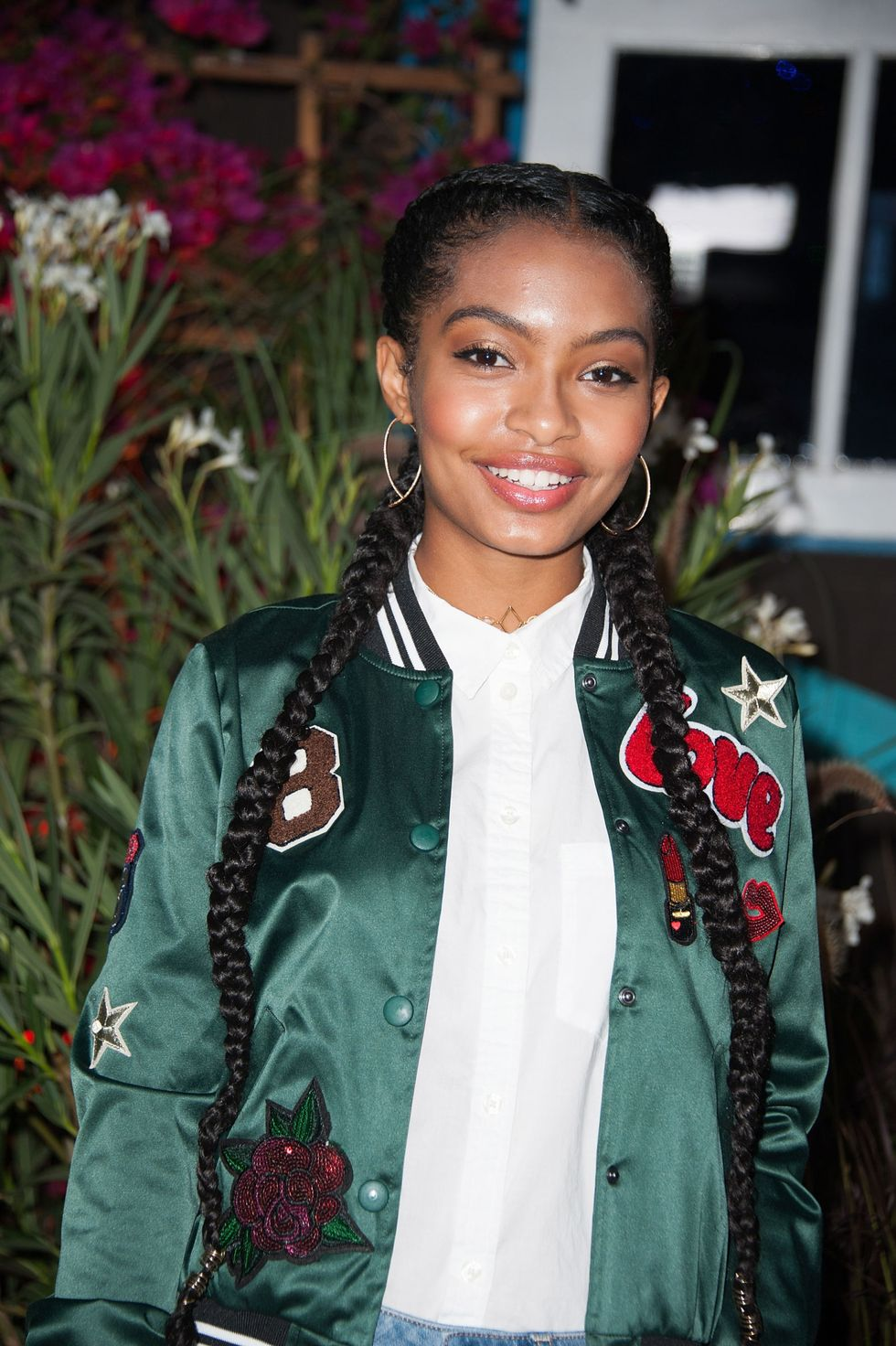 Yara Shahidi Grownish star Shahidi changes her hair game constantly. Still though, ain't nothing wrong with smart and simple double French braids.