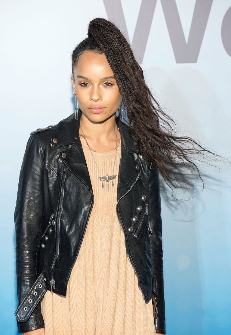 pretty easy hair styles 23 braided hairstyles for fall 2017 braided 2963 | zoe kravitz
