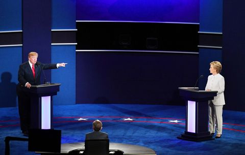 Donald Trump and Hillary Clinton at the Last Presidential Debate