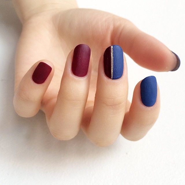 "<p>Jewel-toned matte nails to match your jewel-toned party dress. </p><p><em data-redactor-tag=""em"" data-verified=""redactor"">Design by <span class=""redactor-invisible-space"" data-verified=""redactor"" data-redactor-tag=""span"" data-redactor-class=""redactor-invisible-space""></span><a href=""https://www.instagram.com/p/0YLtXDCh1M/"" target=""_blank"">@purplenailbox</a></em><em data-redactor-tag=""em"" data-verified=""redactor""></em></p>"