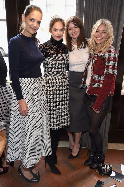 Katie Holmes, Ruth Wilson, Emily Mortimer, and Sienna Miller at Through Her Lens: The Tribeca Chanel Women's Filmmaker Program Inaugural Luncheon