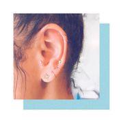 Ear, Lip, Cheek, Hairstyle, Skin, Earrings, Chin, Forehead, Eyelash, Eyebrow,