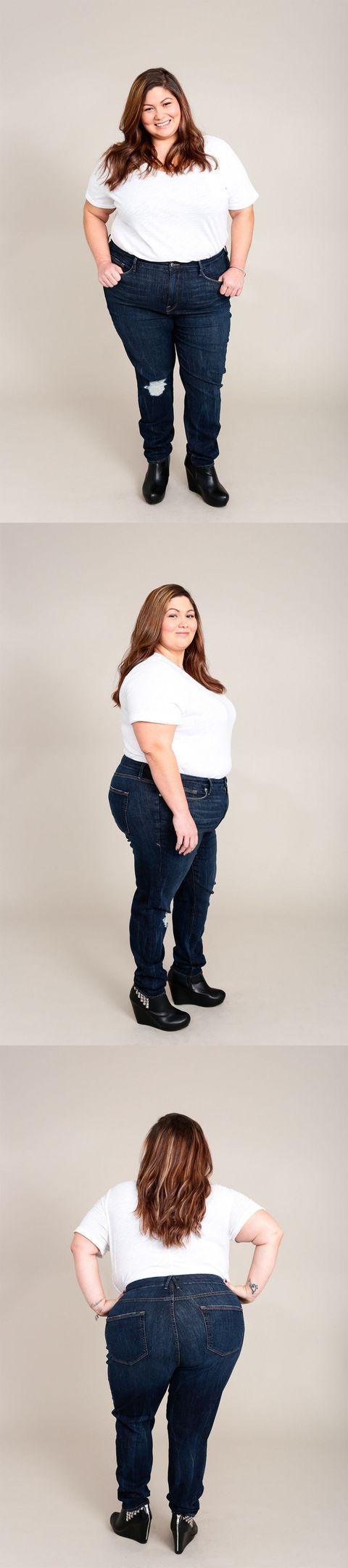 98d1c19a90 Khloe Kardashian Good American Jeans Review - Real Women Try Khloe ...