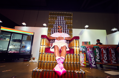 "<p> At the Four Loko x Pizzaslime capsule collaboration launch party in downtown LA on November 4, 2016.&nbsp;</p><p><span class=""redactor-invisible-space"" data-verified=""redactor"" data-redactor-tag=""span"" data-redactor-class=""redactor-invisible-space""></span></p>"
