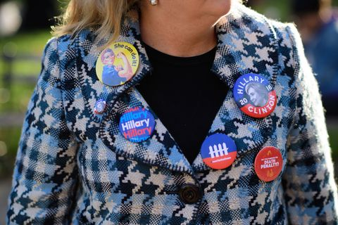 pantsuit nation, hillary clinton supporters wear pantsuits