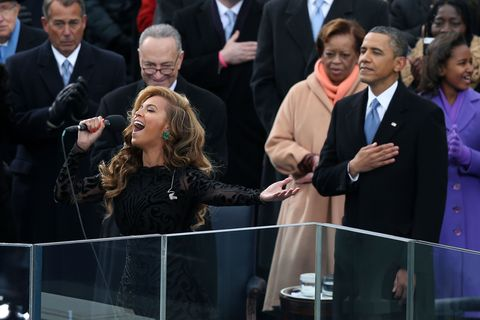 Beyonce during the 2013 innauguration