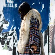 Textile, Fur clothing, Winter, Street fashion, Natural material, Animal product, Fur, Fashion model, Fashion design, Stole,
