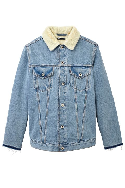 "<p>Levi's c/o Off-White Denim and Shearling Jacket, $1,437; <a href=""https://www.off---white.com/en/US"" data-tracking-id=""recirc-text-link"">off---white.com</a></p>"