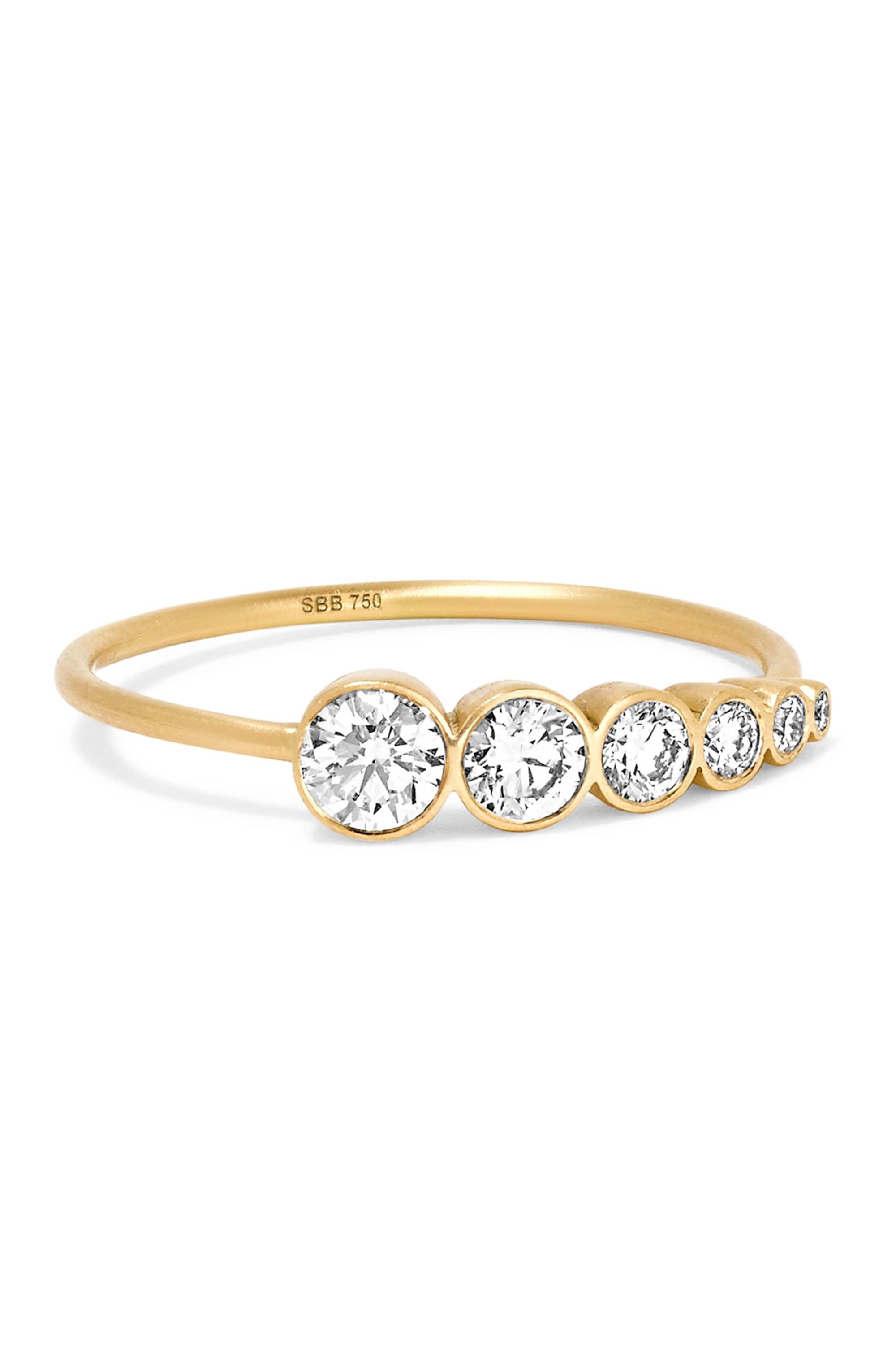 house s husar and white diamonds twist engagement fine diamond gold yellow ring style of two stone rings