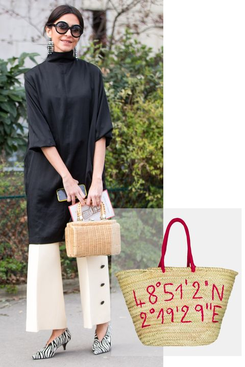 "<p>""So many cool girls are <a href=""http://www.elle.com/fashion/g28707/basket-bag-trends/"" target=""_blank"" data-tracking-id=""recirc-text-link"">carrying a basket bag</a> á la Jane Birkin this season,"" according to Paris-based journalist Lauren Bastide. ""It was something you usually witnessed only during summertime, but now they're wearing wearing them in winter, too. That's the way Jane wore it—rain or shine."" </p>  <p><em data-redactor-tag=""em"">Kilometre GPS Bag, $85; </em><a href=""https://kilometre.paris/collection/gps-basket/"" target=""_blank"" data-tracking-id=""recirc-text-link""><em data-redactor-tag=""em"">kilometre.paris</em></a></p>"