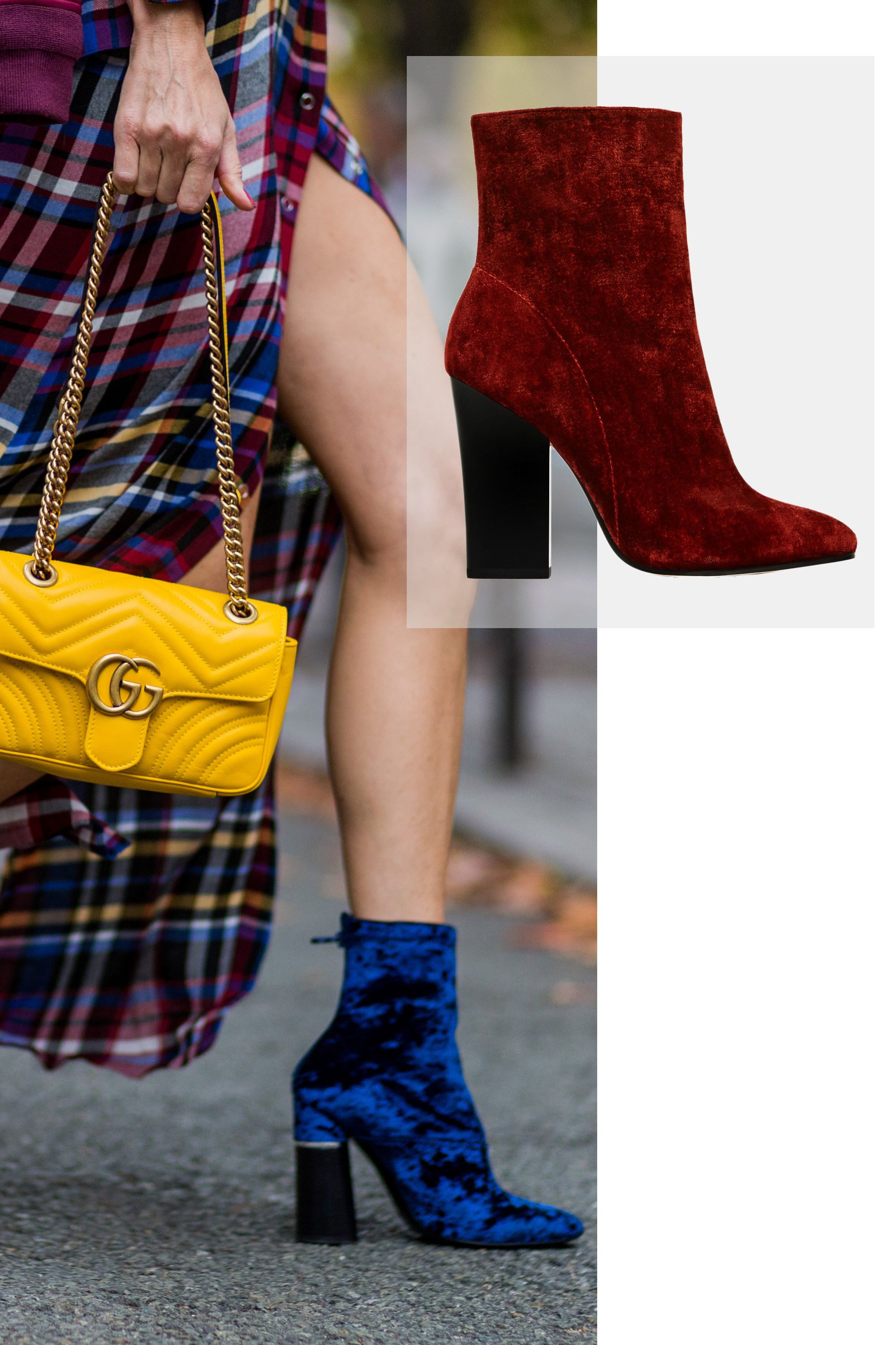"""<p>""""I've been seeing a lot of heavy fabrics for accessories, and velvet seems to be the material of choice,"""" says Rajni Lucienne Jacques, a creative consultant based in Brooklyn. """"A lot of girls are rocking velvet booties in jewel colors. They are what I like to call sock booties with a slight point—it's pretty much the Yeezy effect.""""</p><p><em data-redactor-tag=""""em"""" data-verified=""""redactor"""">Zara Velvet High Heel Ankle Boots, $119&#x3B; </em><a href=""""http://www.zara.com/us/en/woman/shoes/ankle-boots/velvet-high-heel-ankle-boots-c288001p3821526.html"""" target=""""_blank"""" data-tracking-id=""""recirc-text-link""""><em data-redactor-tag=""""em"""" data-verified=""""redactor"""">zara.com</em></a></p>"""