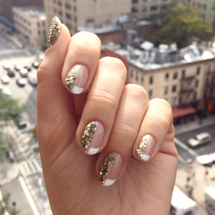 21 glitter nail art designs sparkly ideas for chic glitter manicures prinsesfo Images