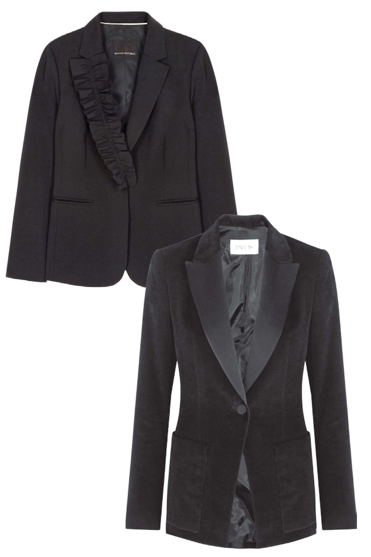 <p>Wool blazer, BANANA REPUBLIC, $228. </p>  <p>Corduroy jacket, PALLAS PARIS,$1,635.</p>