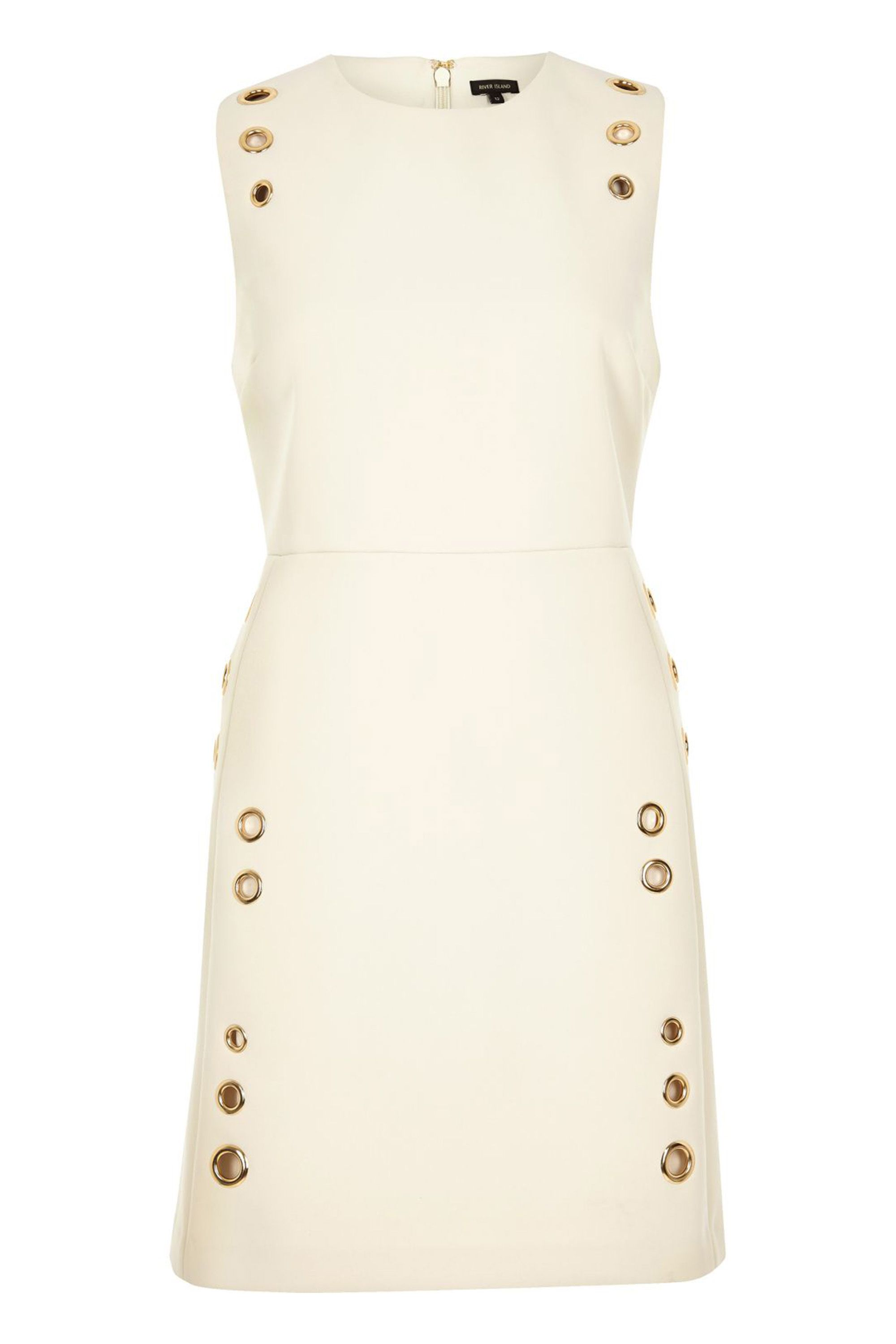 "<p>River Island Cream Eyelet A-Line Dress, $120; <a href=""http://us.riverisland.com/women/dresses/shift-dresses/cream-eyelet-a-line-dress-690066"" target=""_blank"">riverisland.com</a></p>"
