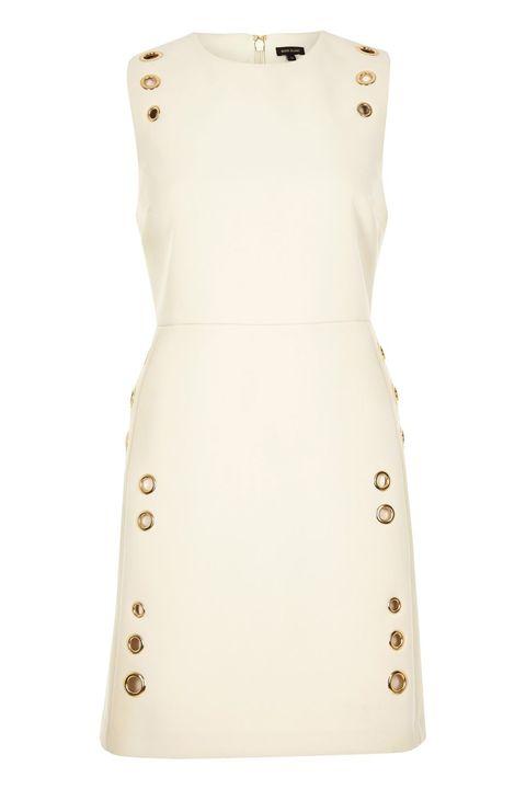"""<p>River Island Cream Eyelet A-Line Dress, $120; <a href=""""http://us.riverisland.com/women/dresses/shift-dresses/cream-eyelet-a-line-dress-690066"""" target=""""_blank"""">riverisland.com</a></p>"""