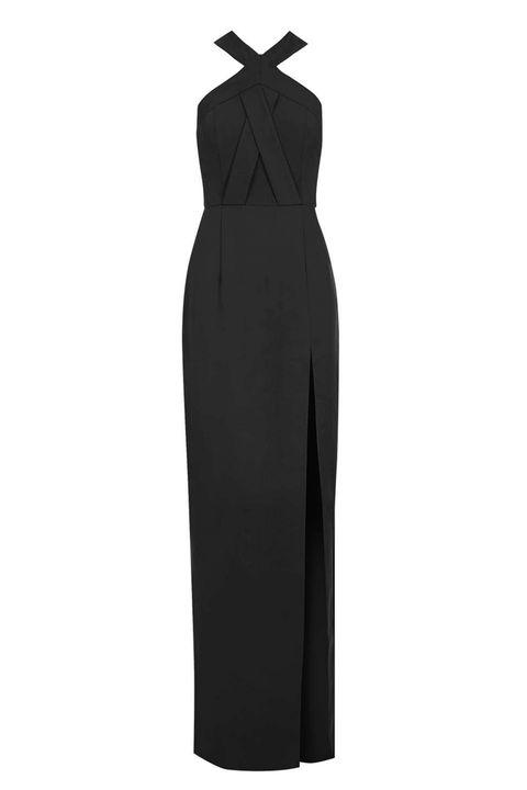 """<p>Topshop Cross Front Maxi Dress, $115; <a href=""""http://us.topshop.com/en/tsus/product/clothing-70483/dresses-70497/oix-fnt-split-ring-5974244?bi=160&amp;ps=20"""" target=""""_blank"""">topshop.com</a></p>"""