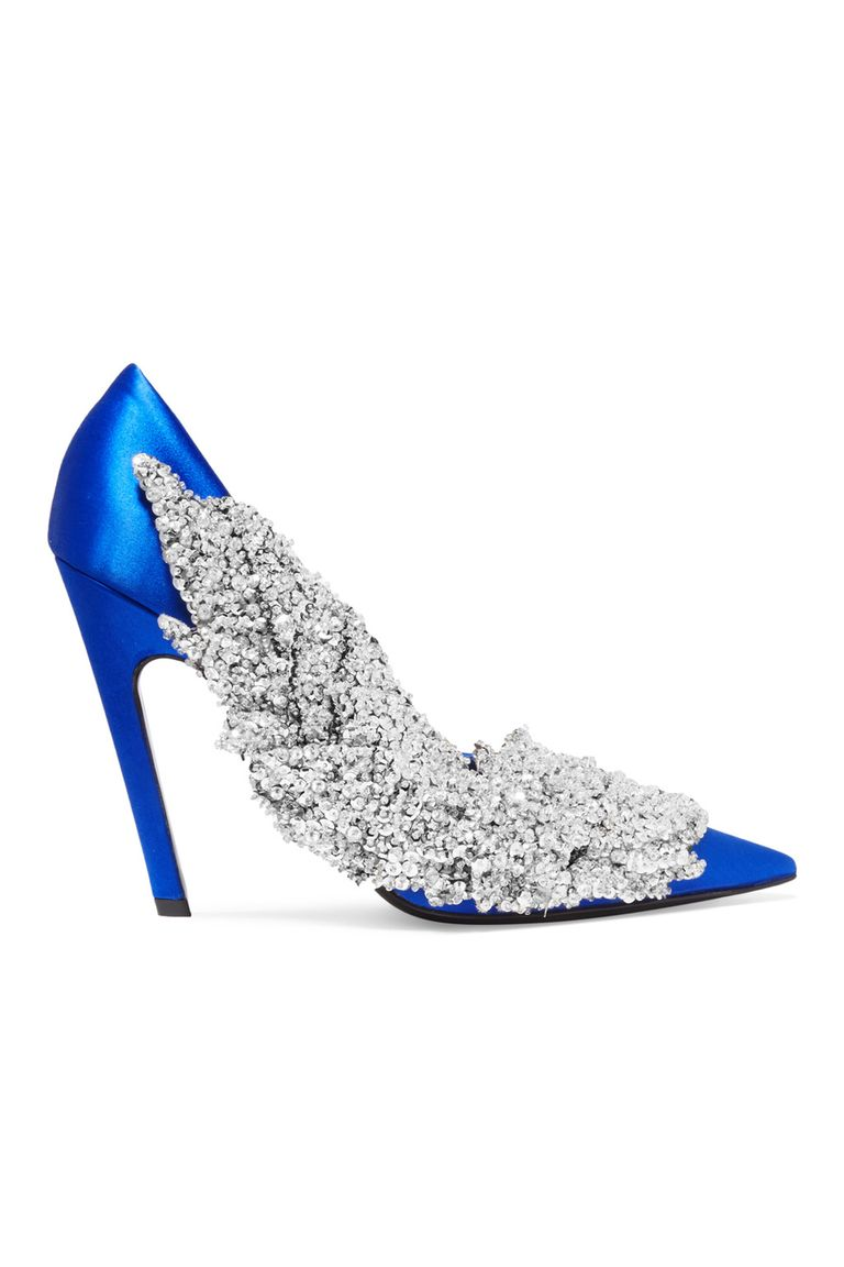 Modern blue wedding shoes 15 wedding heels and flats for your balenciaga junglespirit Image collections