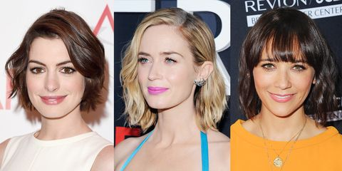 <p>The classic short style is amped up with waves, crimps, and loose curls.</p>