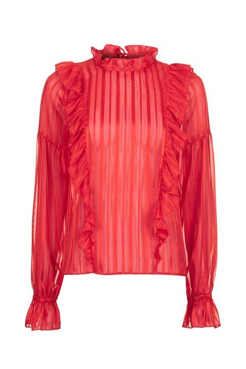 "<p>Topshop Stripe Ruffle Blouse, $65; <a href="" http://us.topshop.com/en/tsus/product/clothing-70483/tops-70498/stripe-ruffle-blouse-6036379?bi=40&amp;ps=20"" data-tracking-id=""recirc-text-link"">topshop.com</a></p>"