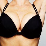 black bra and breasts