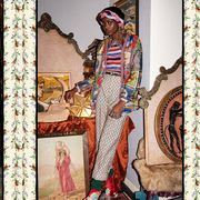 Pink, Style, Sunglasses, Magenta, Pattern, Street fashion, Visual arts, Fashion design, Boot, Costume design,