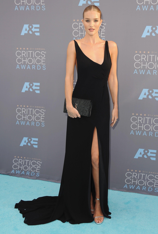 Black dress in red carpet