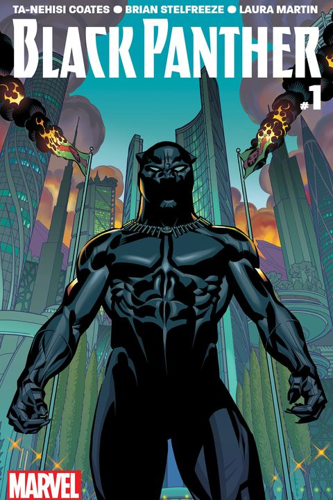 "<p>The first issue of Coates' Marvel series is intense and gorgeous. It tells the story of a king facing the dissolution of the fictional kingdom of Wakanda, which has been overrun by various self-serving factions. Ultimately about power and the ""weight of the nation, of its peoples, its history, its traditions,""<em data-redactor-tag=""em"" data-verified=""redactor""> Black Panther</em> offers a parallel to our present—and a revelation. When accused of stoking Wakandans' rage, the leader of an anti-government movement says, ""No, I revealed to them, in all their agony, their deeper truer selves."" </p>"