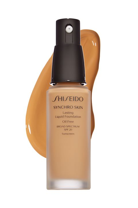 """<p>SHISEIDO Synchro Skin Lasting Liquid Foundation """"is so clever, it probably has a university degree,"""" says ELLE Canada's Vanessa Craft. Designed to reflect """"the optimum amount of light, so skin doesn't look flat,"""" the long-lasting formula releases anti-inflammatory and oil-absorbing ingredients to neutralize redness and reduce shine.<span class=""""redactor-invisible-space"""" data-verified=""""redactor"""" data-redactor-tag=""""span"""" data-redactor-class=""""redactor-invisible-space""""></span></p>"""