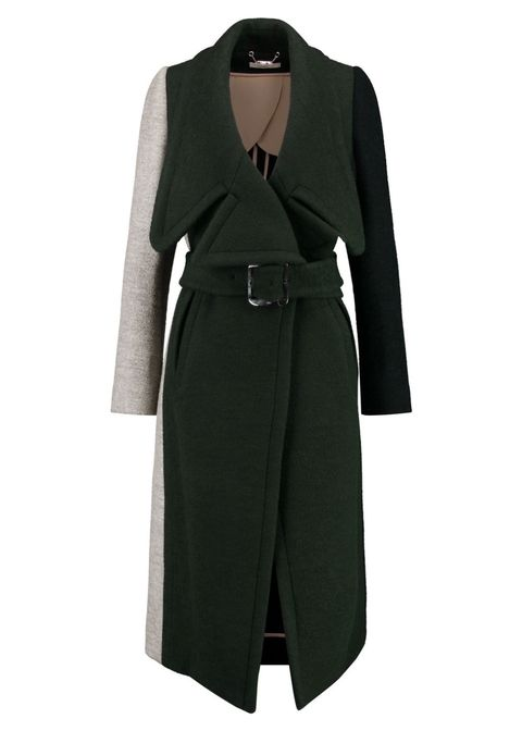 "<p>Chloé Color Block Coat, $1,575 (originally $4,375); <a href=""https://www.theoutnet.com/en-US/Shop/Product/Chloe/Color-block-wool-blend-coat/838936"" target=""_blank"" data-tracking-id=""recirc-text-link"">theoutnet.com</a></p>"