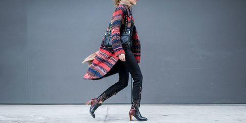 Sleeve, Textile, Plaid, Joint, Outerwear, Tartan, Style, Street fashion, Knee, Pattern,
