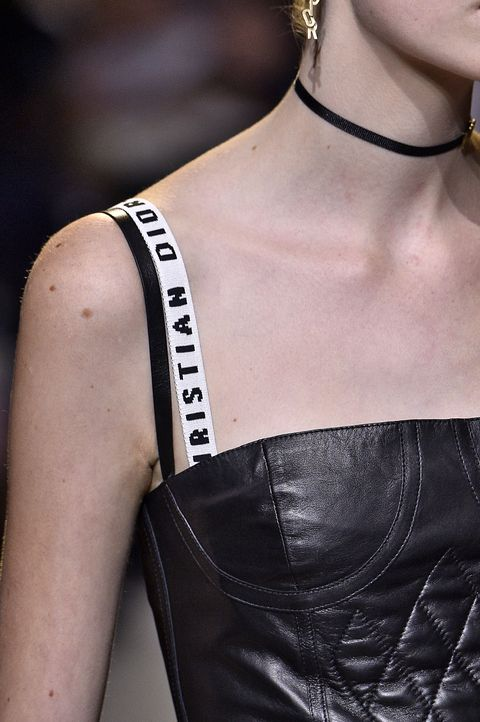"""<p>We might not be quite ready for this trend,but Maria Grazia Churi, creative director of Christian Dior, makes a good case. In her premiere collection for the Parisian house, bold bra straps were layered under corseted dresses in athrowback to the mid-aughts.<a href=""""http://24.media.tumblr.com/9d092c575d87e5f727eb4ec1590c82a4/tumblr_mium0cy6oc1qgbguro1_r1_250.gif"""" target=""""_blank"""" data-tracking-id=""""recirc-text-link"""">Contrast straps</a> are about to make a fierce comeback.<span class=""""redactor-invisible-space"""" data-verified=""""redactor"""" data-redactor-tag=""""span"""" data-redactor-class=""""redactor-invisible-space""""></span></p>"""