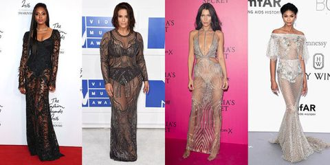 21 of the Nakedest Naked Dresses of 2016