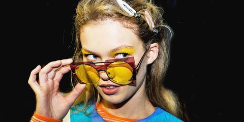 Eyewear, Hair, Head, Vision care, Fun, Style, Fashion accessory, Earrings, Mask, Nail,