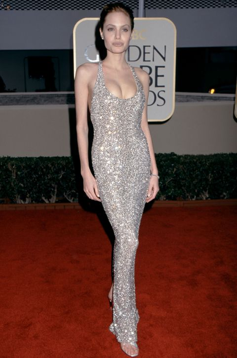<p>You could pluck this heavily-embellished dress straight out of 1999 and plop it onto the 2017 Golden Globe Awards red carpet and it wouldn't look a touch out of place. That '90s makeup might stand out, though.</p>