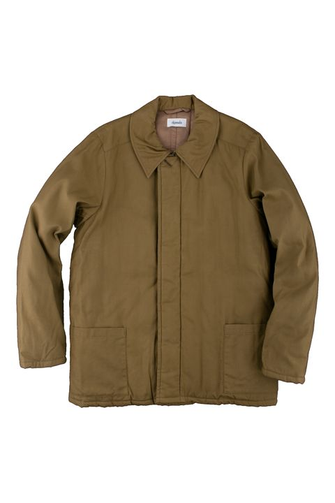 """<p>Chimala Quilted Tankers Jacket, $678; <a href="""" https://unionmadegoods.com/product/silk-back-satin-quilted-tankers-jacket-in-khaki-beige/"""" data-tracking-id=""""recirc-text-link"""">unionmadegoods.com</a></p>"""