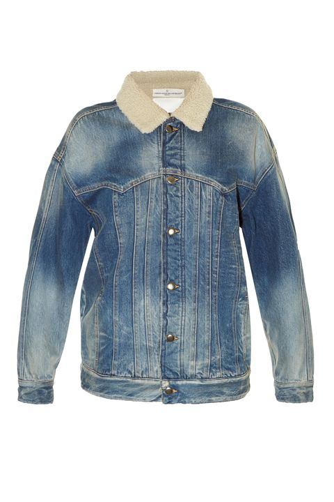 """<p>Golden Goose Deluxe Brand Kinney Jacket, $376; <a href=""""http://www.matchesfashion.com/us/products/Golden-Goose-Deluxe-Brand-Kinney-shearling-lined-denim-jacket-1072086"""" data-tracking-id=""""recirc-text-link"""">matchesfashion.com</a></p>"""