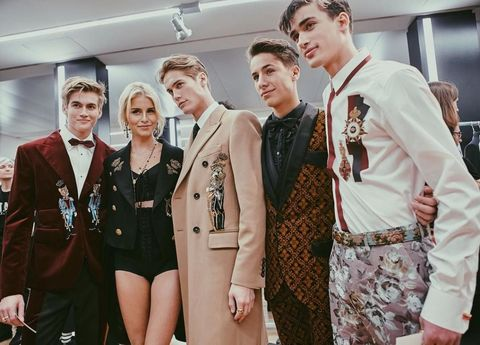 c1c9b3e7120e Dolce   Gabbana Continues Its Love Affair with Millennials at the Fall 2017  Men s Show