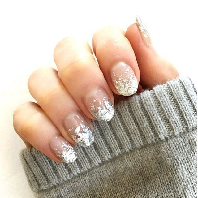 """<p>""""I love foil fading&nbsp&#x3B;nails, you can wear them in any season,"""" says Yasuda who&nbsp&#x3B;<span class=""""redactor-invisible-space"""" data-verified=""""redactor"""" data-redactor-tag=""""span"""" data-redactor-class=""""redactor-invisible-space"""">suggests stopping by a art supply store to cop your foil. &nbsp&#x3B;</span></p><p>1. Apply your&nbsp&#x3B;base coat (pictured here in clear) and wait for it to dry.&nbsp&#x3B;</p><p>2. Swipe a small amount of clear polish on just tip of the&nbsp&#x3B;nails.&nbsp&#x3B;</p><p>3. Gently place&nbsp&#x3B;shredded foil to the area, heavier along the edge to achieve a&nbsp&#x3B;gradient.&nbsp&#x3B;</p><p>4. Once dry, seal your look with top coat .&nbsp&#x3B;</p>"""