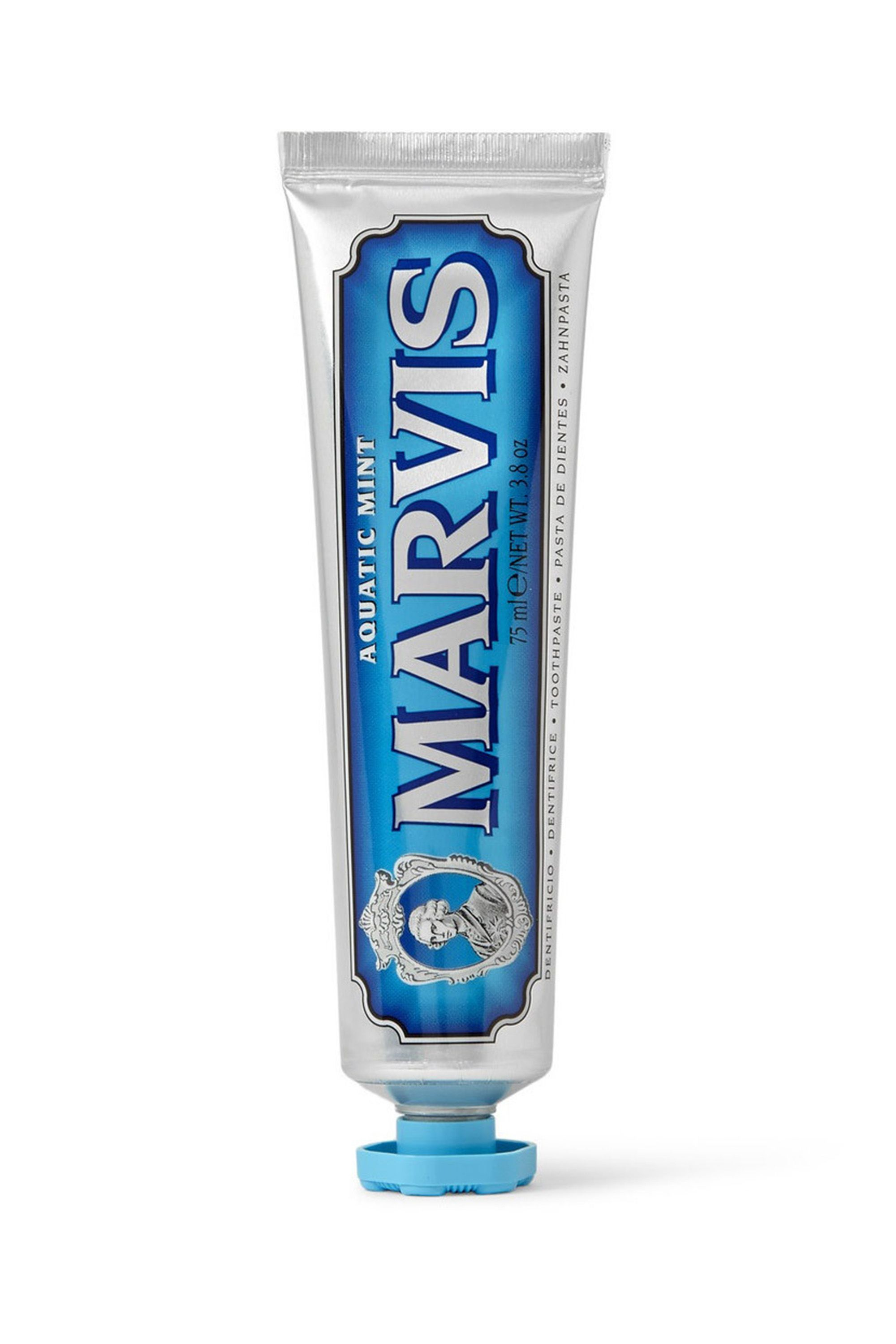 "<p>When I found myself toothpasteless upstate one weekend, I grabbed a travel-sized Marvis tube in the kind of store that has both crystals and 70 types of fragranced candles in every color imaginable. This Italian brand is a little bit fancy, but it's homey. I have no idea what ""Aquatic Mint"" is, but I like it—the refreshing flavor is kind of like a bracing ocean breeze.- Estelle Tang, ELLE.com Culture Editor</p><p><em data-redactor-tag=""em"" data-verified=""redactor"">Marvis Aquatic Mint Toothpaste, $10.50; </em><a href=""http://www.sephora.com/aquatic-mint-toothpaste-P399222"" target=""_blank""><em data-redactor-tag=""em"" data-verified=""redactor"">sephora.com</em></a></p>"