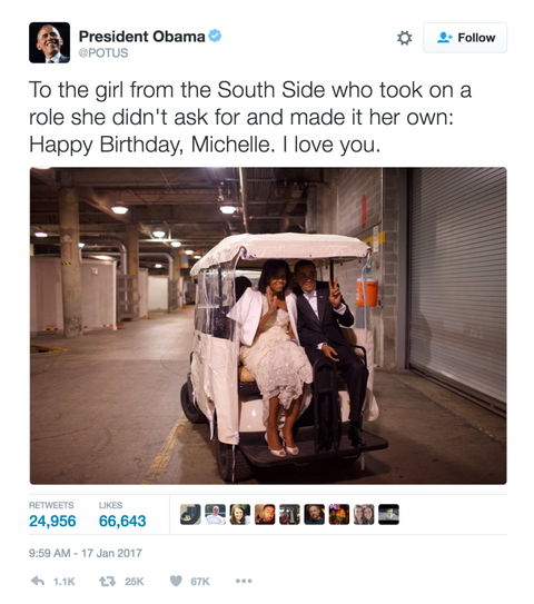 Barack Obama S Birthday Message To Michelle Obama Potus Tweet To Flotus,Rudolph The Red Nosed Reindeer 1964 Vhs