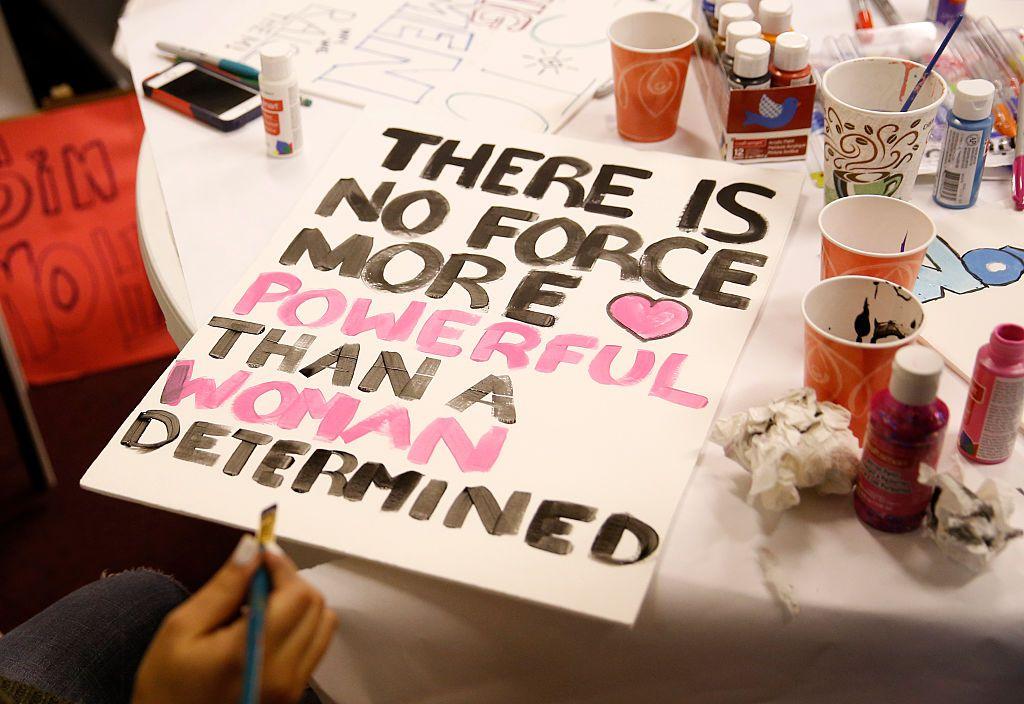 women's march on washington sign