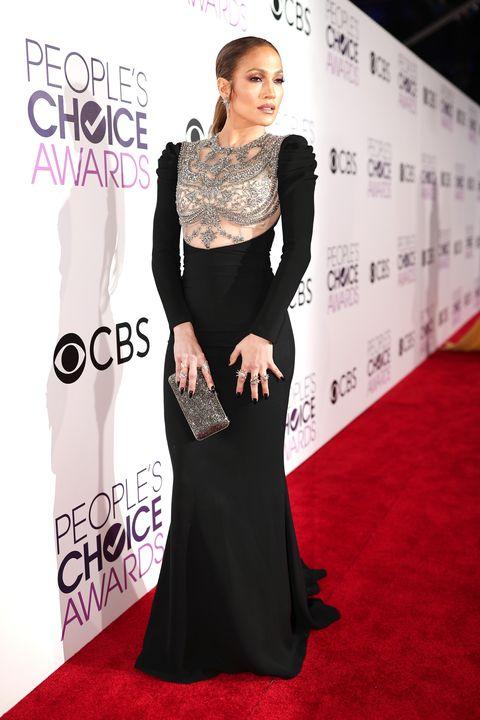 Jennifer Lopez in Black, Jewel-Embellished Dress at the People\'s ...