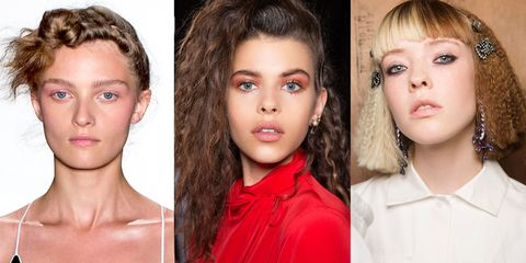 <p>The dream of the 80s was alive in New York and London, which is good news for us because humidity equals big hair. Crimping as seen at Adam Selman, where it was thrown up into a front facing knot, Ashley Williams and Top Shop Unique is one ways to keep fluff under control.</p>