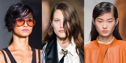 """<p>Because you will have buns and ponies for days, try to at least make them more inspired. Got a second? Just form a part all the way over near your ear before pulling hair back. For proof that this works, see the styles at Lanvin, Jil Sander and 3.1 Phillip Lim.&nbsp;</p><p><strong data-redactor-tag=""""strong""""> </strong></p>"""