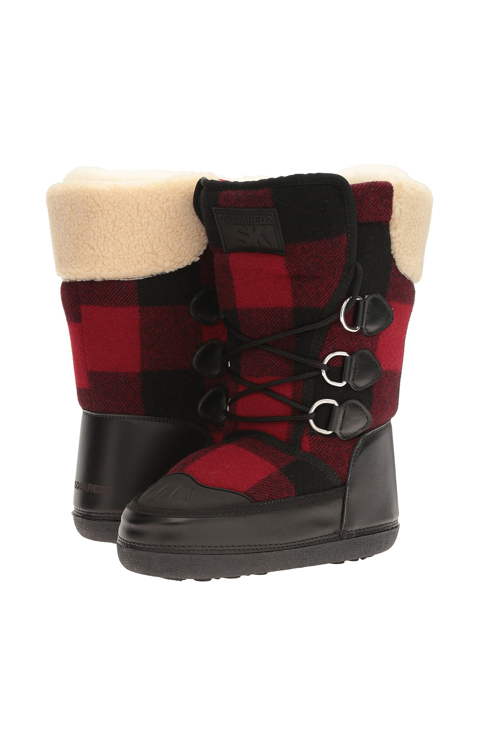 """<p>DSQUARED2, Snow Boot, $375;<a href=""""http://luxury.zappos.com/p/dsquared2-snow-boot-nero-rosso/product/8839809/color/14361"""" data-tracking-id=""""recirc-text-link"""">zappos.com</a></p>"""