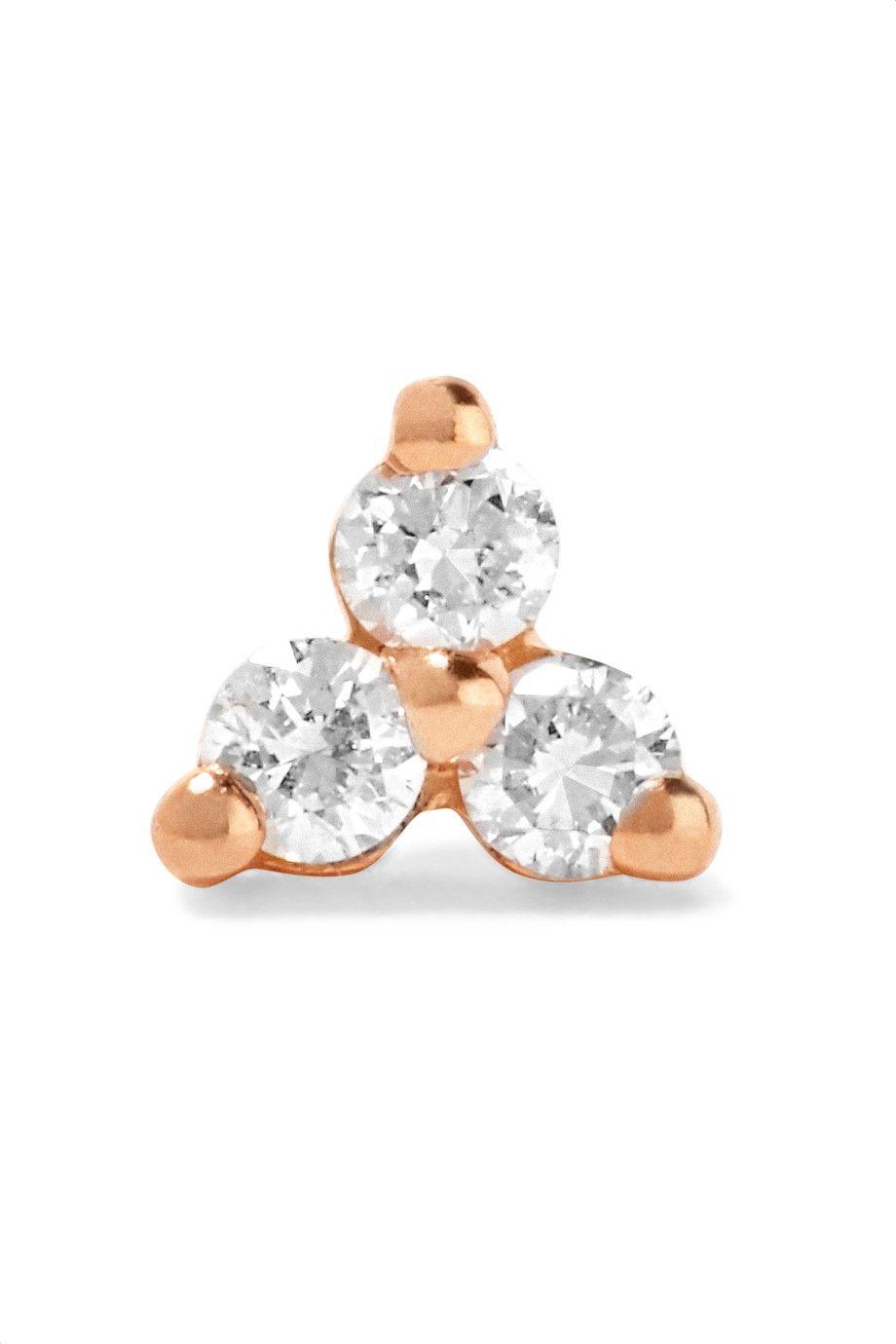 "<p>Maria Tash, Rose Gold Diamond Earring, $220; <a href=""https://www.net-a-porter.com/us/en/product/822423/maria_tash/tiny-14-karat-rose-gold-diamond-earring"" data-tracking-id=""recirc-text-link"">net-a-porter.com</a></p>"