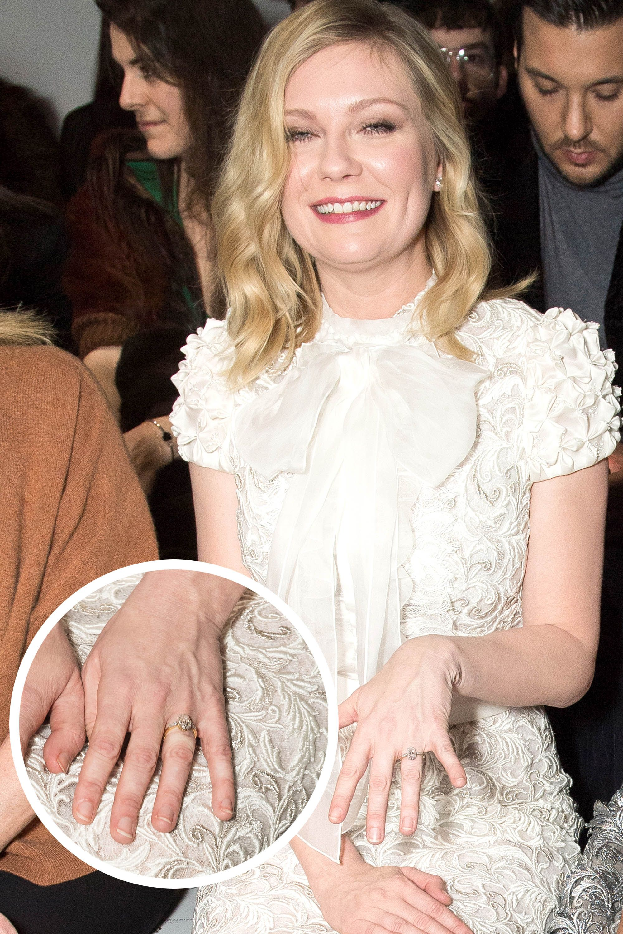 close zoom a diamond wedding oval ring and s rings celeb kirsten of the bands dunst celebrity up engagement gorgeous