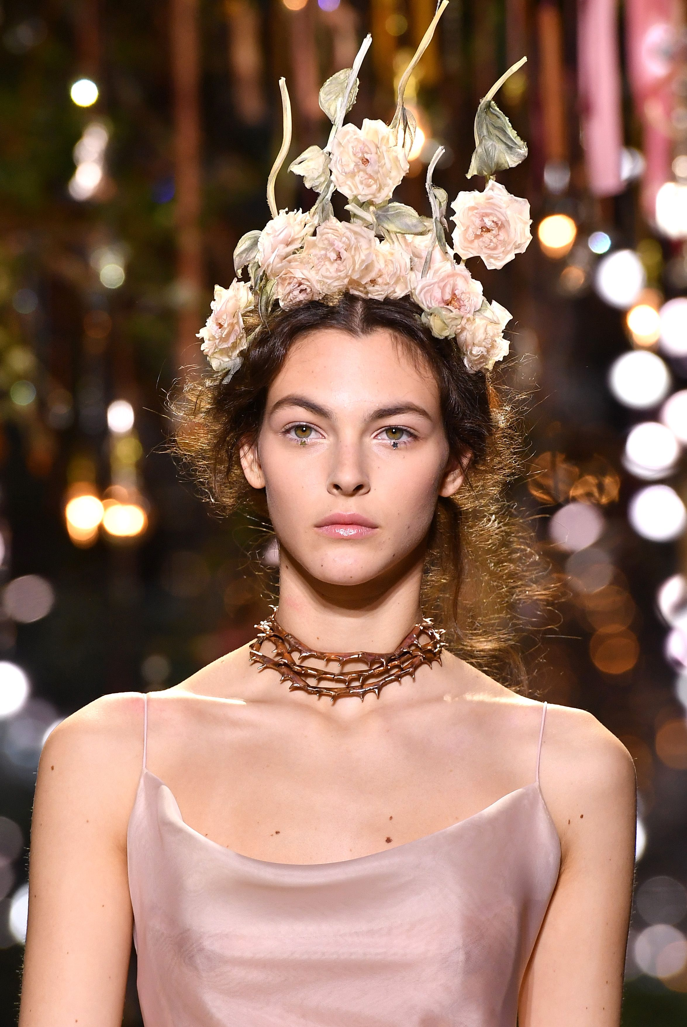 Dior couture hairstyles for spring and summer 2017 flower crowns dior couture hairstyles for spring and summer 2017 flower crowns at dior runway izmirmasajfo