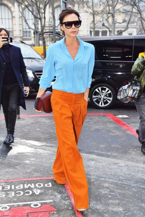 Clothing, Orange, Street fashion, Fashion, Eyewear, Yellow, Sunglasses, Suit, Footwear, Outerwear,