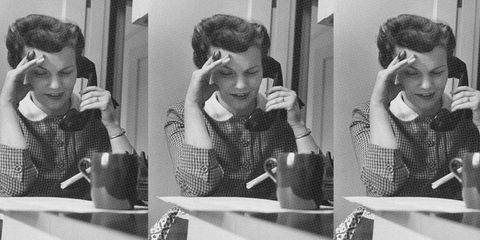 old time woman on phone